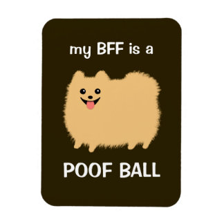 my BFF is a POOF BALL - Funny Pomeranian Dog Magnet