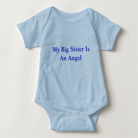 My Big Sister Is An Angel Baby Bodysuit