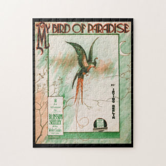 My Bird of Paradise Vintage Music Sheet Cover Jigsaw Puzzle