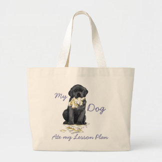 My Black Lab Ate My Lesson Plan Jumbo Tote Bag