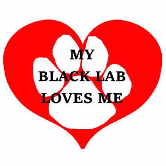 my black lab loves me photo sculpture keychain