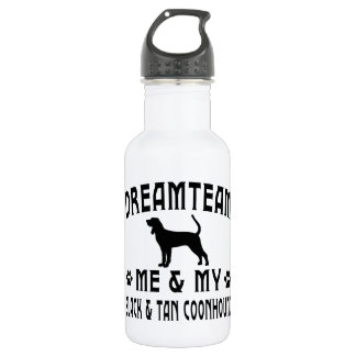 My Black & Tan Coonhound Dog 18oz Water Bottle