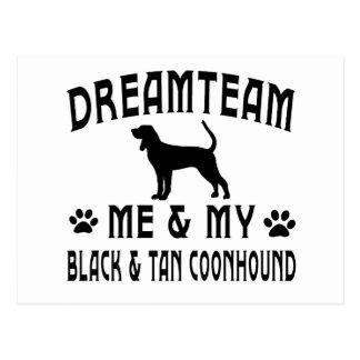 My Black & Tan Coonhound Dog Postcard