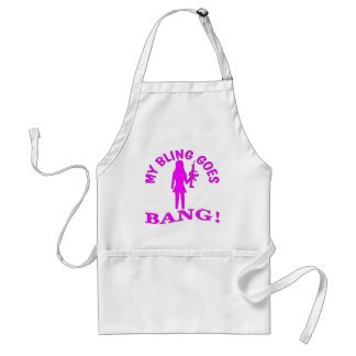 My Bling Goes BANG Standard Apron