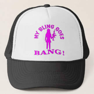 My Bling Goes BANG Trucker Hat