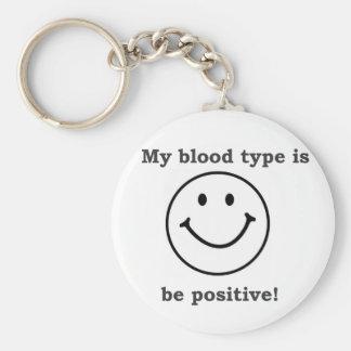 My blood type is B+ Keychain