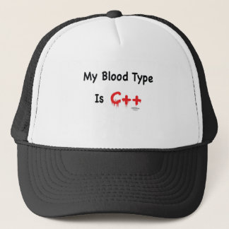 My blood type is c++ trucker hat