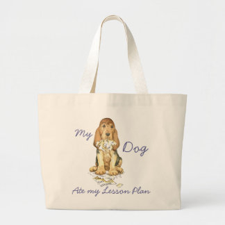 My Bloodhound Ate My Lesson Plan Jumbo Tote Bag
