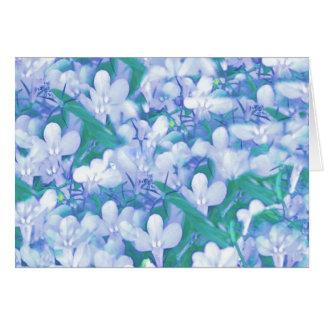 My blue flora greeting card