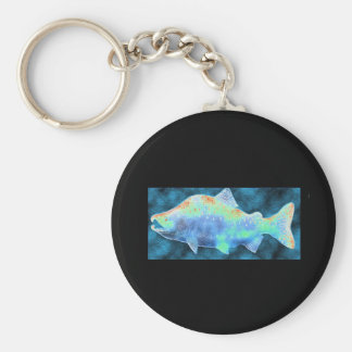 My Blue Salmon Keychain