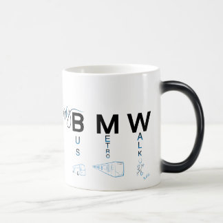 My BMW - Bus, Subway, Walk 11 Oz Magic Heat Color-Changing Coffee Mug