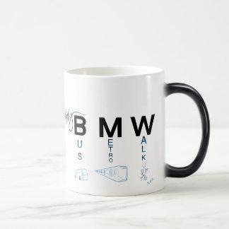My BMW - Bus, Subway, Walk 11 Oz Magic Heat Color-Changing Coffee Mug