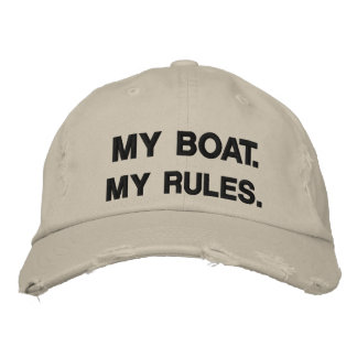 My Boat My Rules - funny boating Embroidered Baseball Caps