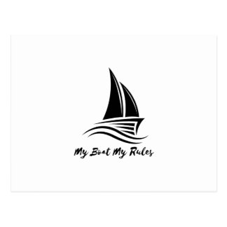 My Boat My Rules Funny Captain Gift Men Women Postcard