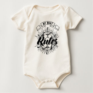 My Boat Rules Baby Bodysuit
