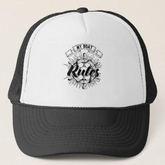 My Boat Rules Trucker Hat