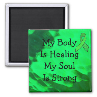 My Body is Healing, Lyme Disease Affirmation Square Magnet
