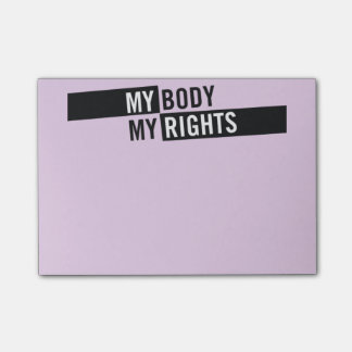 My Body My Rights Post-It's Post-it® Notes