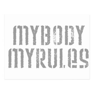 My Body, My Rules Postcard