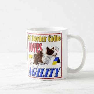 My Border Collie Loves Agility mug