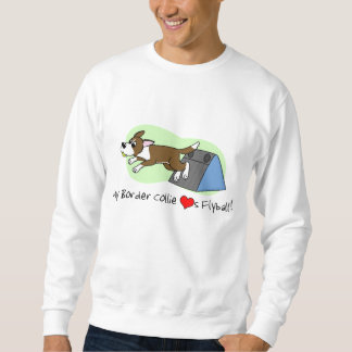 My Border Collie Loves Flyball Sweatshirt (Brown)