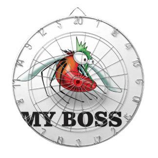 my boss mean dartboard with darts