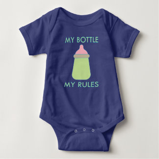 My Bottle My Rules Baby Clothing Baby Bodysuit