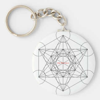 my box is a... Metatron's Cube Basic Round Button Keychain