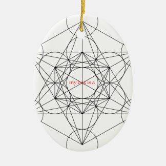 my box is a... Metatron's Cube Ceramic Oval Ornament