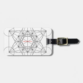 my box is a... Metatron's Cube Luggage Tag