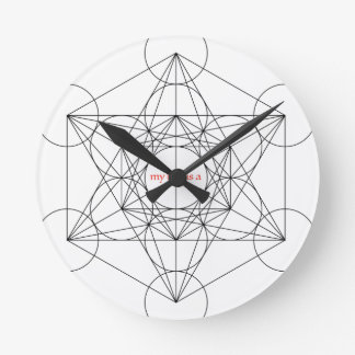 my box is a... Metatron's Cube Round Clock