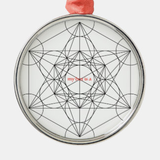my box is a... Metatron's Cube Silver-Colored Round Ornament