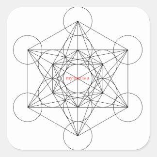 my box is a... Metatron's Cube Square Sticker
