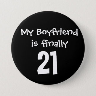 My Boyfriend 3 Inch Round Button