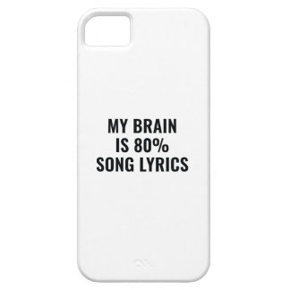 My Brain Is 80 Percent Song Lyrics iPhone 5 Cover