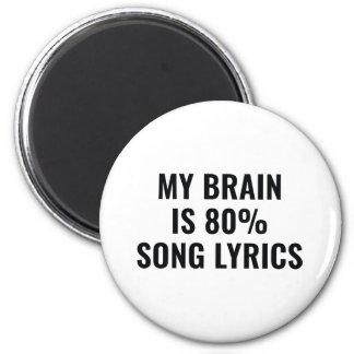 My Brain Is 80 Percent Song Lyrics Magnet