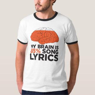 My brain is 85% song lyrics T-Shirt