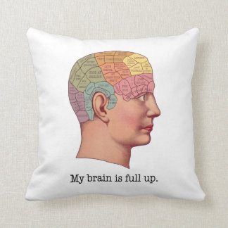 My Brain is Full Up Pillows