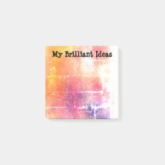 My brilliant ideas sticky notes