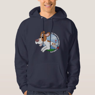 My Brittany Spaniel Loves Agility Hoodie