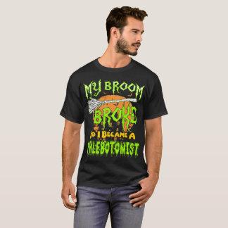 My Broom Broke So I Became Phlebotomist Halloween T-Shirt