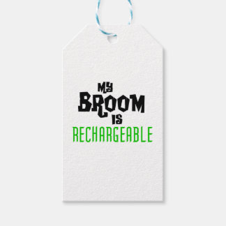 My Broom is Rechargeable Pack Of Gift Tags