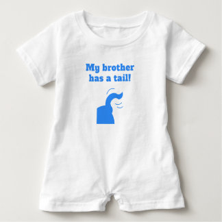 My Brother Has A Tail Baby Romper