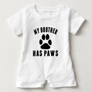 My Brother Has Paws Baby Romper