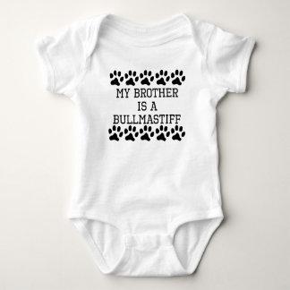 My Brother Is A Bullmastiff Baby Bodysuit