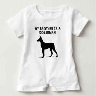 My Brother Is A Doberman Baby Romper