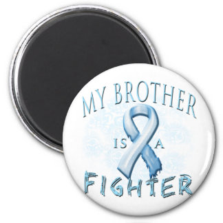 My Brother is a Fighter Light Blue Fridge Magnet