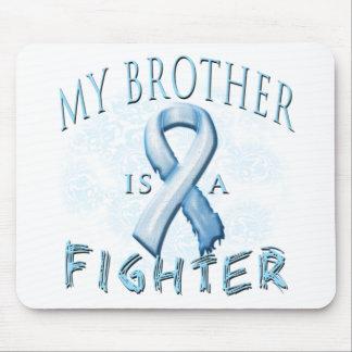 My Brother is a Fighter Light Blue Mouse Pad