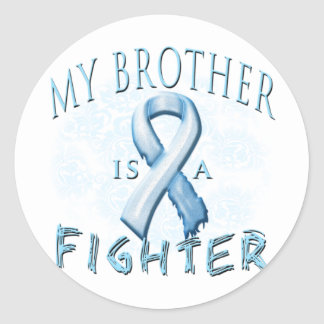 My Brother is a Fighter Light Blue Stickers