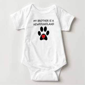 My Brother Is A Newfoundland Baby Bodysuit